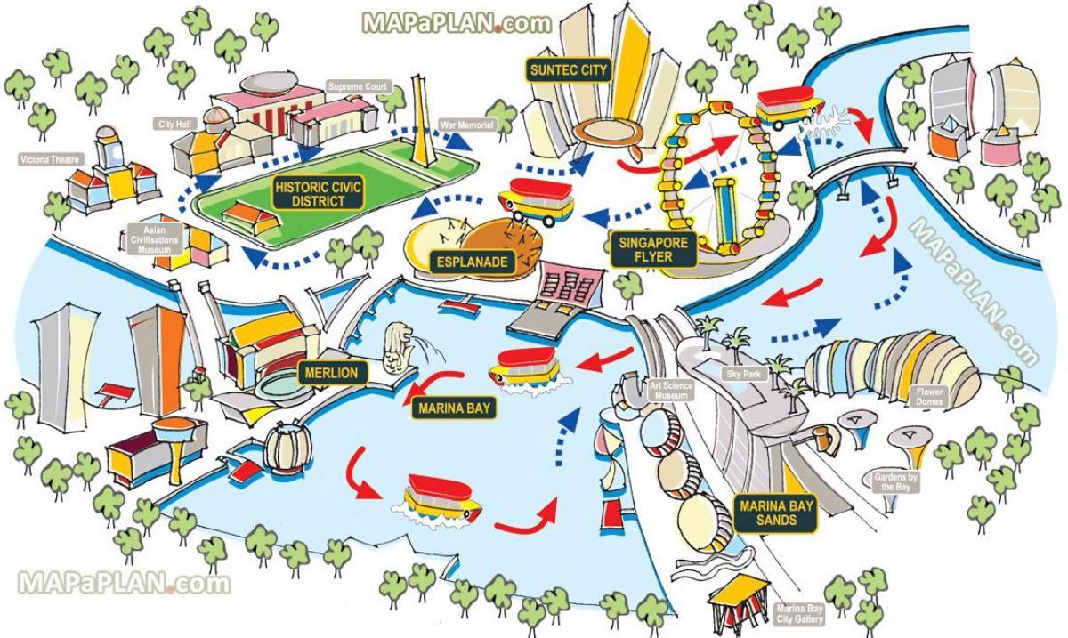 Duck Bay Marina >> Singapore mappa turistica di Singapore mappa turistica (Repubblica di Singapore)